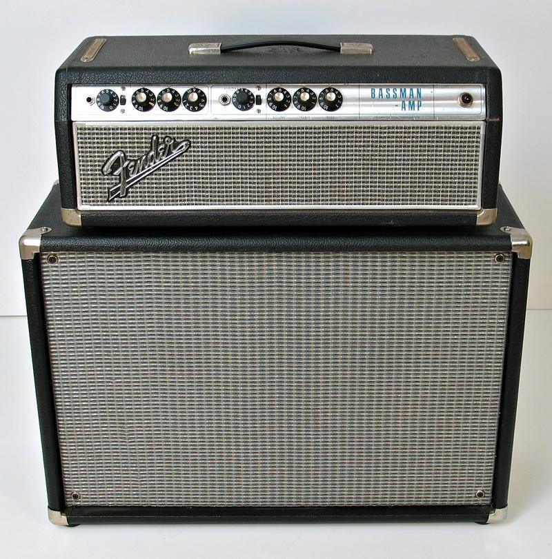 Fender 1968 Silverface Bassman 50W Head with matching 2 x 10 Cabinet