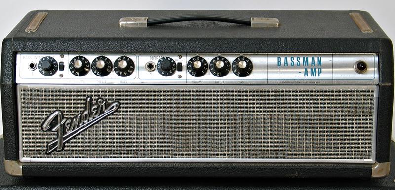 Fender 1968 Silverface Bassman 50W Head with matching 2 x 10